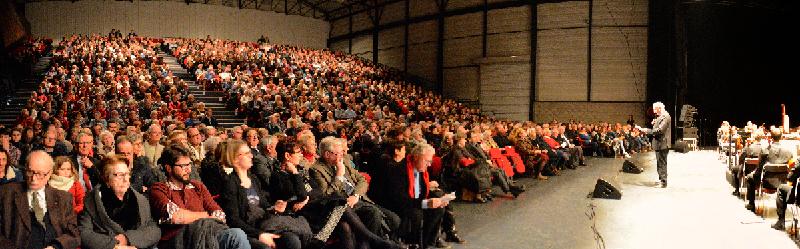 Auditorium du Concert de Noël 2017 à Maubeuge, avec l'Orchestre National de Lille - Lions Clubs du Nord de la France