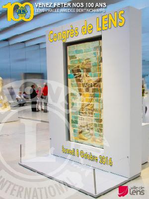 Plaquette du Congrès d'Automne 2016 de LENS - Lions Clubs du Nord de la France