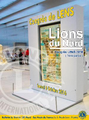 Revue Lions du Nord - n° 353 - Septembre 2016 - Lions Clubs du Nord de la France