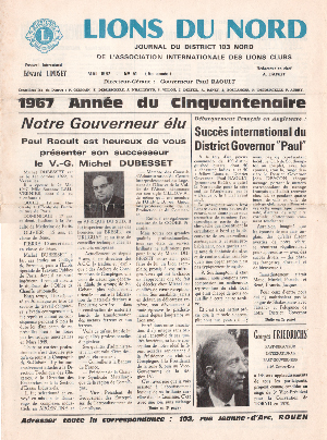 Revue Lions du Nord - n° 051 - Mai 1957 - Lions Clubs du Nord de la France