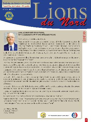 Revue Lions du Nord - n° 344 - Juin 2014 - Lions Clubs du Nord de la France