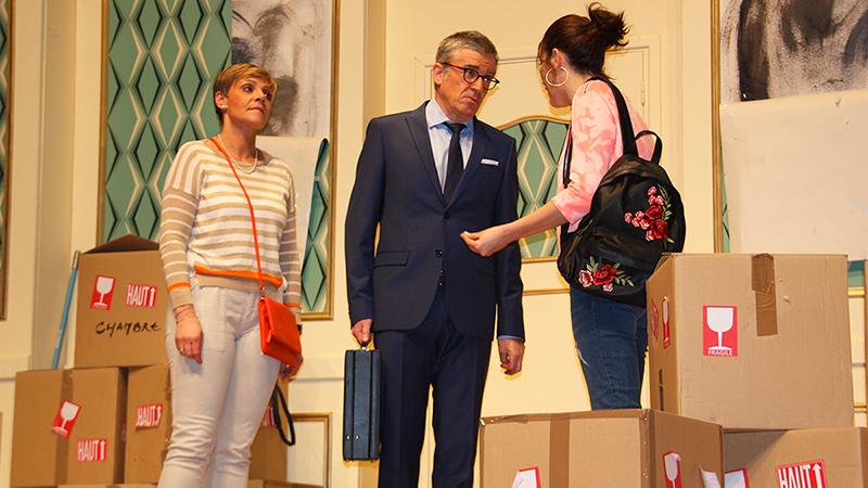 Théâtre : Délit de Fuites pour luter contre le Cancer chez l'Enfant - Michel Bertin, son ex-compagne et sa fille 2018 - Amiens Somme - Lions Clubs du Nord de la France