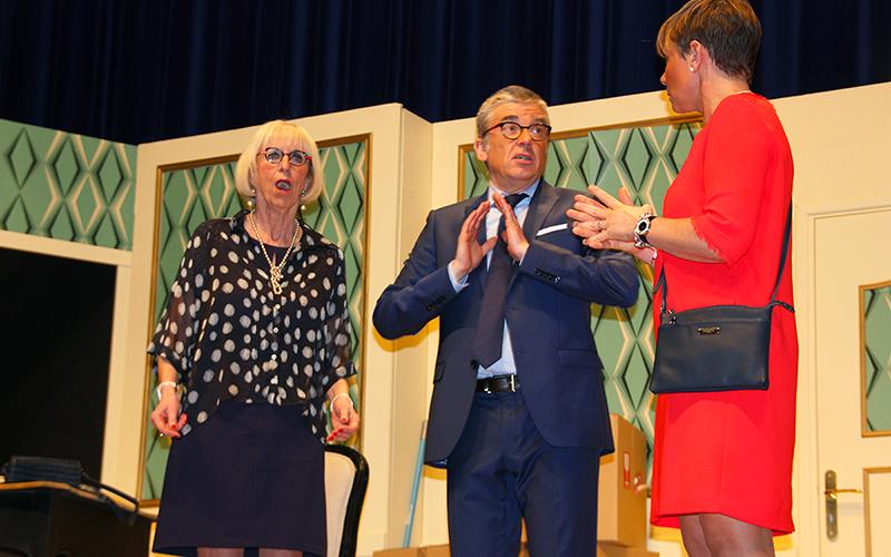 Théâtre : Délit de Fuites pour luter contre le Cancer chez l'Enfant - Michel Bertin et son ex-compagne 2018 - Amiens Somme - Lions Clubs du Nord de la France