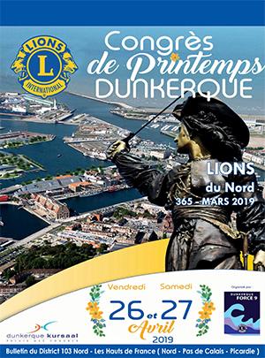 Revue Lions du Nord - n° 365 - Mars 2019 - Lions Clubs du Nord de la France