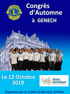 Plaquette du Congrès d'Automne 2019 à GENECH - Lions Clubs du Nord de la France